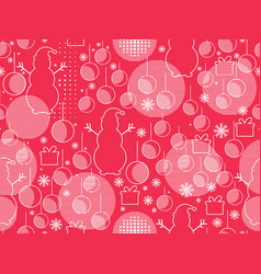 memphis seamless pattern with christmas balls vector image vector image