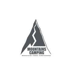 Monochrome emblem or logo of the mountains ideal vector image vector image