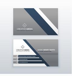 Professional modern business card creative vector
