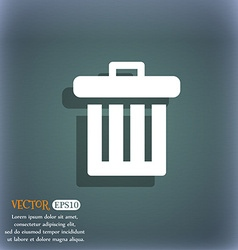 Recycle bin icon symbol on the blue-green abstract vector