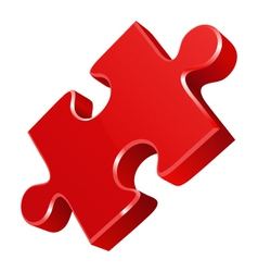 Red puzzle icon vector