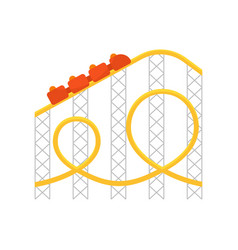 roller coastericon for web vector image vector image