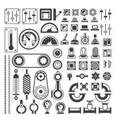 Set of measuring equipment - modern vector