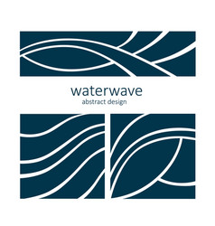 Set water wave logo abstract design vector