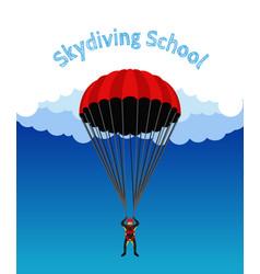 Skydiving school academy parachutist extreme spo vector