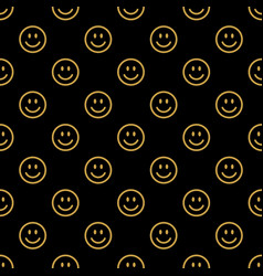smile line icon pattern vector image