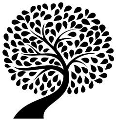 Tree silhouette icon vector