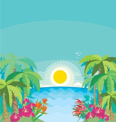 tropical seaside vector image vector image