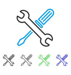 Tuning tools flat icon vector