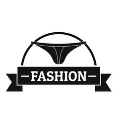 underpant fashion logo simple black style vector image