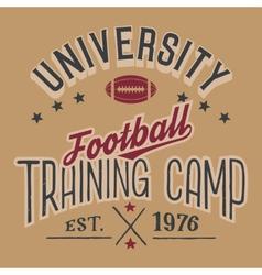 University football training camp vector