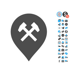workshop marker icon with free bonus vector image vector image