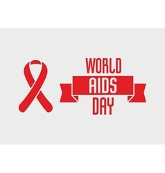 World Aids Day design concept with red ribbon of vector image vector image