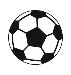Soccer ball icon in simple style vector