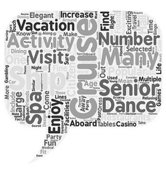 Cruise ships activities for seniors 1 text vector