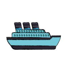 Big ship cruise vector
