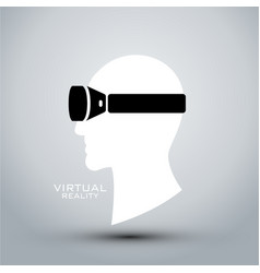 Virtual reality headset icon flat icon logo vector
