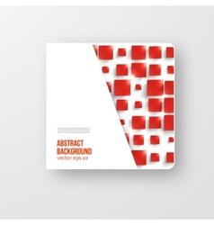square Abstract background card red vector image