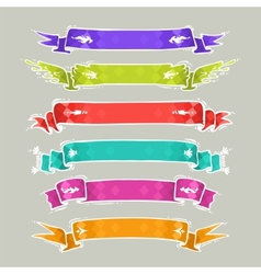Cartoon ribbons set2 vector