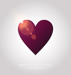 Valentines Day abstract background with hearts vector image