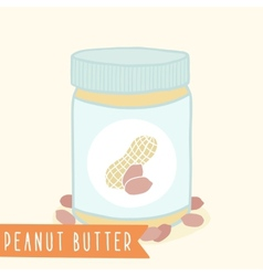 Peanut butter in jar vector