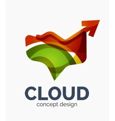 Modern cloud logo vector