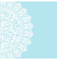 card with lace border vector image