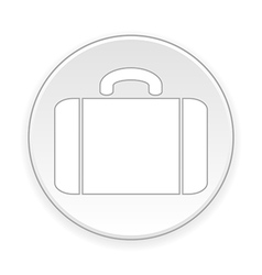 Portfolio symbol button vector
