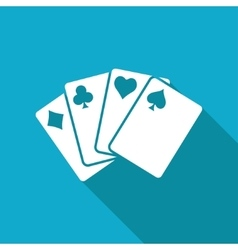Game cards icon eps10 vector