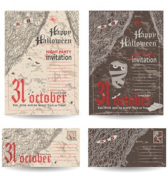 Set of vintage post cards letters and envelope for vector