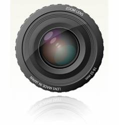 camera zoom lens vector image