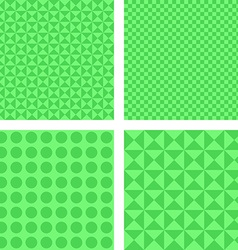 Simple green pattern set vector