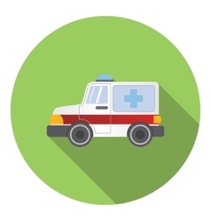 Ambulance car icon flat style vector