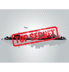 top secret city vector image