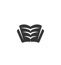 Book icon isolated on white background vector image