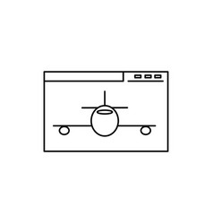 Aeroplane site icon vector