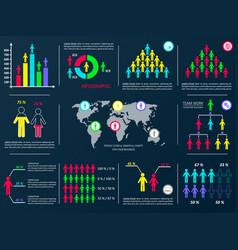 Business infographic design elements vector