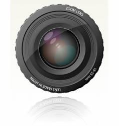 camera zoom lens vector image
