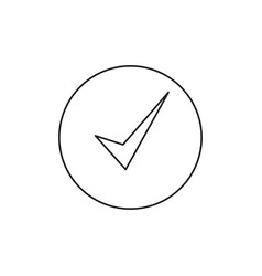 checked success icon vector image vector image