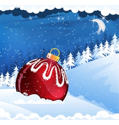 Christmas decorations in the snow vector