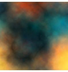 Colorful dark smoke vector image vector image