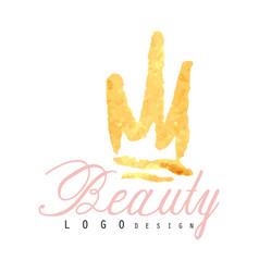 delicate logo original design for cosmetics shop vector image vector image