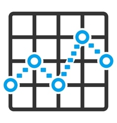 Dotted line grid plot icon vector