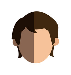 faceless head man people image vector image vector image