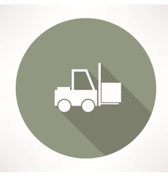 Fork lift icon vector