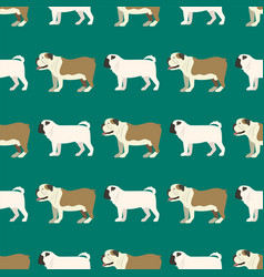 funny cartoon bulldog dog character bread seamless vector image vector image