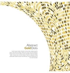 Gold background round golden mosaic vector