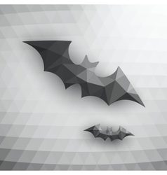 Halloween Bats On Abstract Mosaic Background vector image vector image