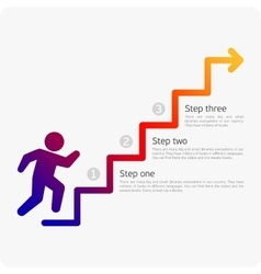 Infographics man walking on stairs vector image