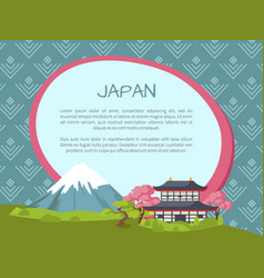 Japan travelling advertisement banner template vector